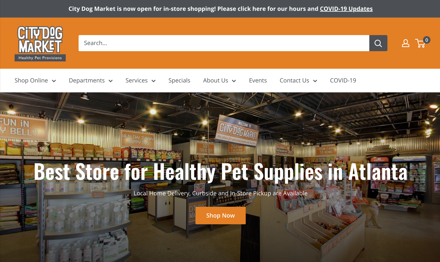City Dog Market Homepage