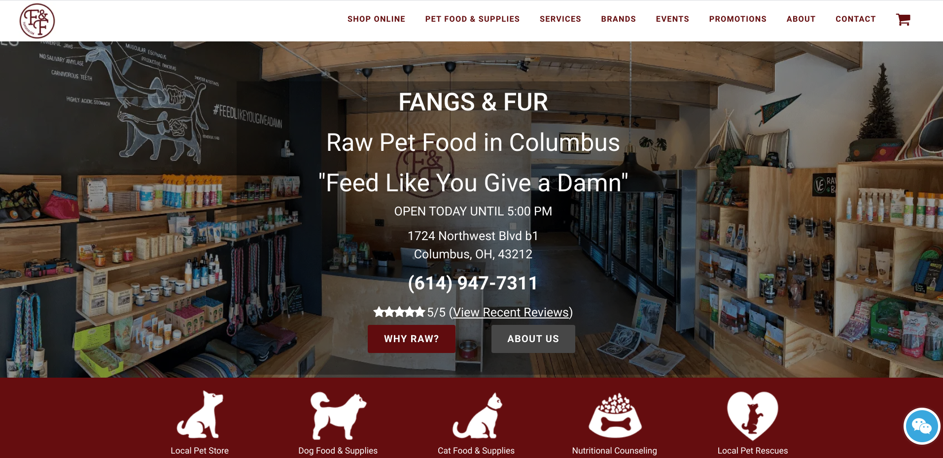 Fangs and Fur Homepage