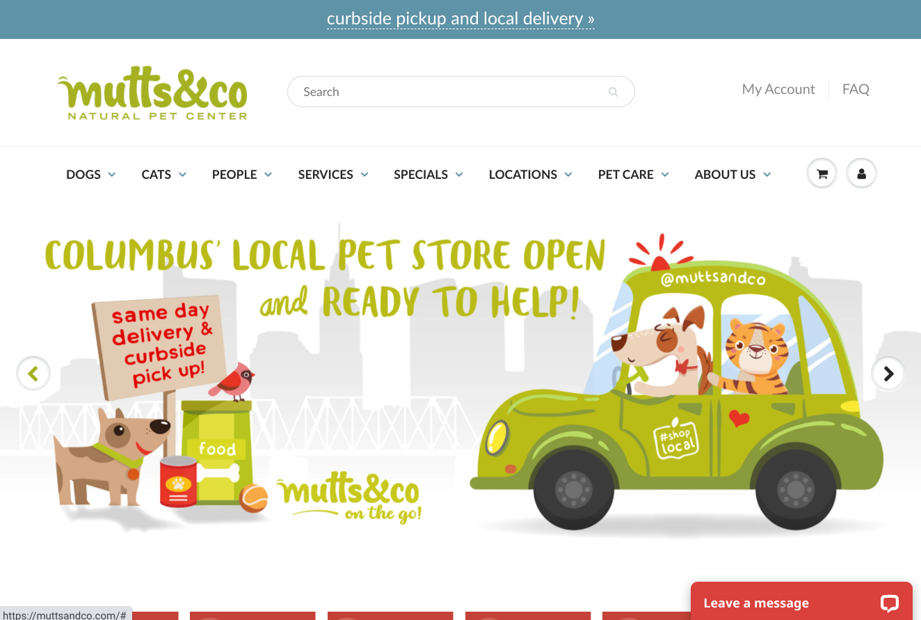 Mutts & Co Homepage